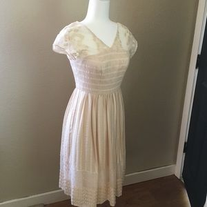 Moulinette Soures by Anthropologie off White Lace